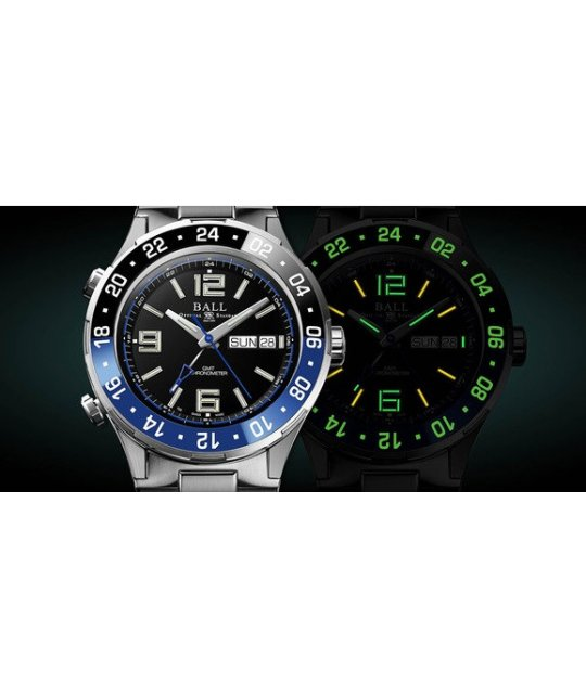 Zegarek męski Ball Roadmaster Marine GMT