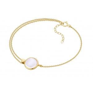 Bransoletka złota z masą perłową