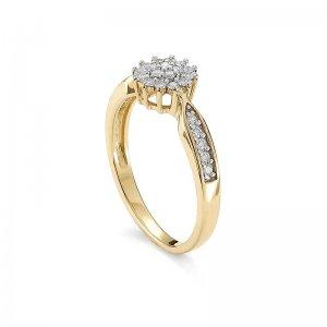 Pierścionek zaręczynowy złoty z brylantami 0,29 Ct